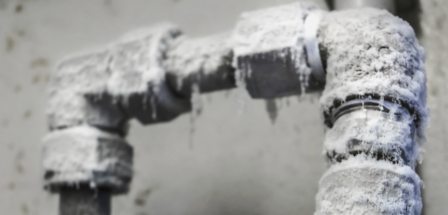 how to get steam flowing through frozen pipes